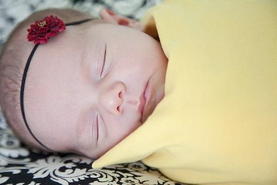 Organic Baby - Swaddling Blanket - Baby Blanket - Newborn - Eco Friendly - Organic Cotton Yellow