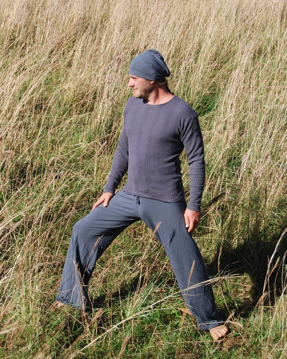 Men's Yoga Pants - Lounge  Pants - Eco Friendly - Organic Clothing - Titanium Gray