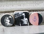 Sailor's Sweetheart Miniature Vintage Photo Wood Blocks Set of Three