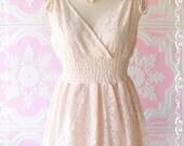 SALE - Lacy Ivy Mini Dress And Long Tunic Light Pink Brush Lacy Beautiful Gorgeous Charming Dress