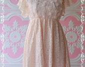 SALE - Lacy Ivy III - Mini Dress And Long Tunic Light Pink Brush Lacy Beautiful Gorgeous Charming Dress