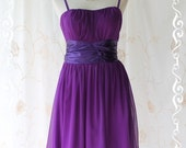 Snow White - Cocktail Majestic Purple Dress Gorgeous Cocktail Party Prom Wedding With Sweet Satin Tie