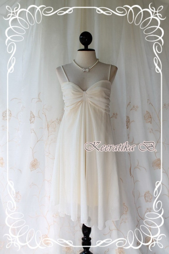 Wonderful Night - Cocktail Prom Party Dinner Bridesmaid Wedding Dress White Ivory Toned Sparkle Fabrics With Scarf S-M