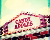 Carnival Photography - Candy Apples, 5x5 Fine Art Photography . state fair . carnival . circus . nursery decor . circus art . apples - kimfearheiley