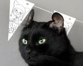 Paper Garland Cat Decoration Printable PDF