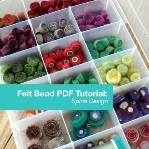 PDF Felt Bead Tutorial - Spiral Design