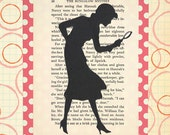 Nancy Drew Silhouette Collage Print - Large