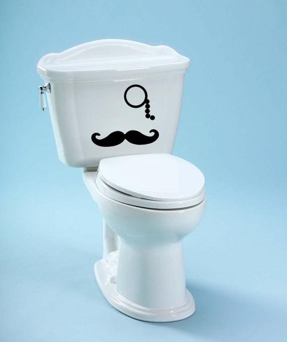 Toilet Decal Mustache Decal Unique Bathroom Toilet Decal Mustache Decoration