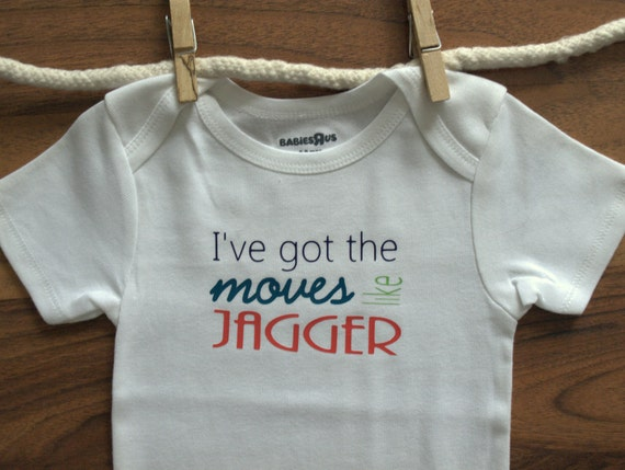 I've Got The Moves Like Jagger Baby Onesie Bodysuit Maroon 5 Jagger Song Baby Clothes Boy Girl