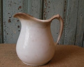 Ironstone milk pitcher - perfectly browned and crazed Farmhouse decor
