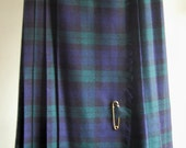 1980s Wool Tartan/Plaid Skirt - SALE PRICE