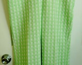 Apple Green and White Patterned Double Knit Cuffed Pants - SALE PRICE