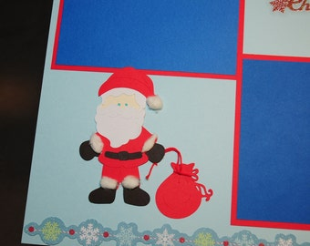 Christmas --- Premade Scrapbook Pages featuring Santa Clause