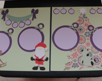 Pearls and Ponies --- Premade 12 x 12 --- 2 page layout --- Christmas