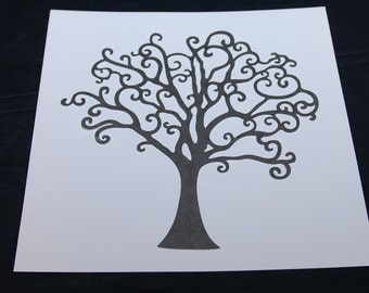 Tree -- Family Tree -- Die Cut for Scrapbook 10""