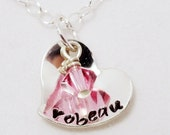 Hand stamped necklace for little girls