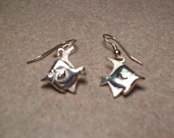 French Hook Silver Sunfish Earrings