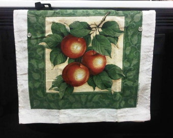Won't Fall Off Kitchen Hand Towel - Apples