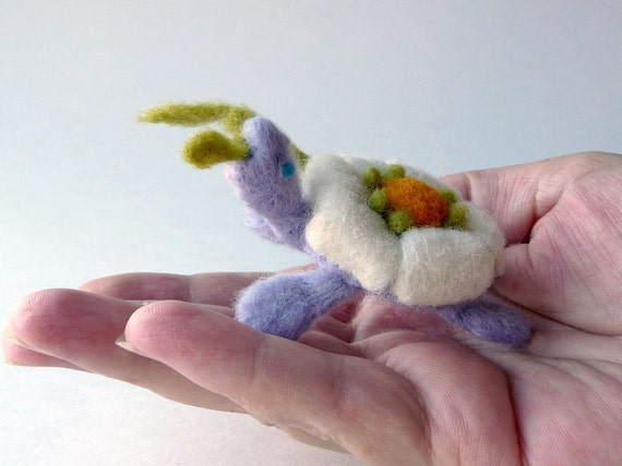 Flower turtle - miniature soft sculpture