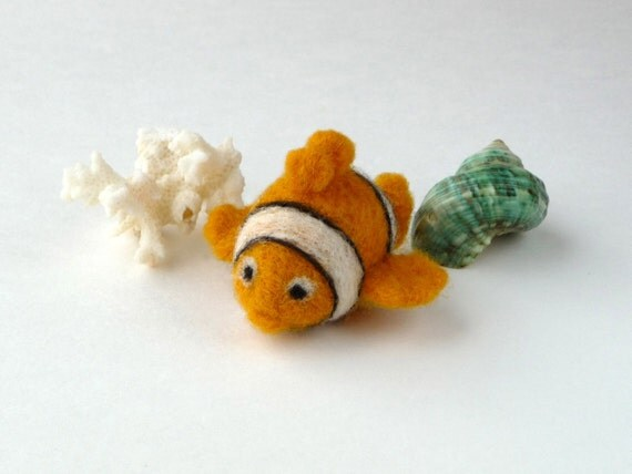 Clown Fish - miniature soft sculpture