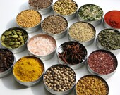 Custom Spice Kit - choose 16 gourmet herbs & spices from over 100 spices / rubs / loose tea / baking / salts - unique cooking gift