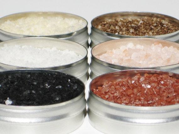 Custom Gourmet Salt & Peppercorn Sampler - You Choose 6 - for snacks, cooking, grilling, baking and cocktails - gourmet DIY gift