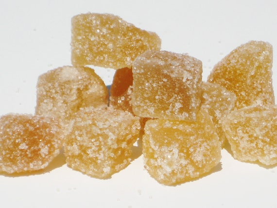 Organic Crystallized Ginger 2 oz - use for baking / cooking or a healthy snack with your cup of tea - essential for travel - sooo delicious