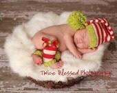 newborn photo prop santa baby hat and leg warmer set