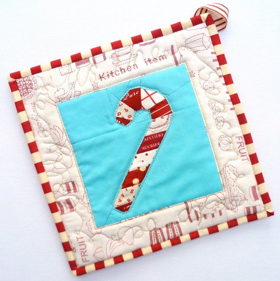 Paper Pieced Candy Cane Love Heart PDF Pattern Includes Free Tote pattern