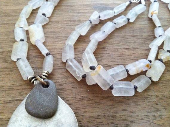 Fluorite Paddle Necklace