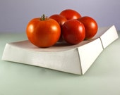 White Concrete tray with natural inlay