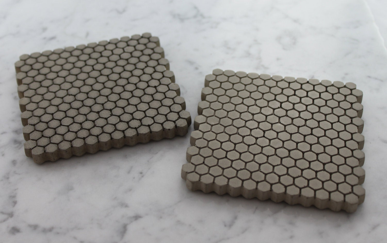 Concrete coasters hexagon coasters tiny trivet for How to make concrete coasters