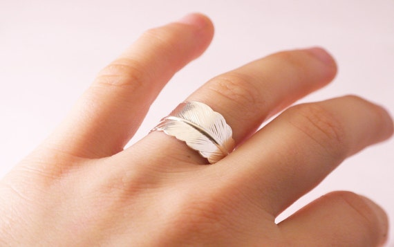 Silver Feather - Ring