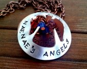 Mothers Necklace - Angel Locket Necklace - Custom Jewelry - Christian Jewelry - Personalized Necklace