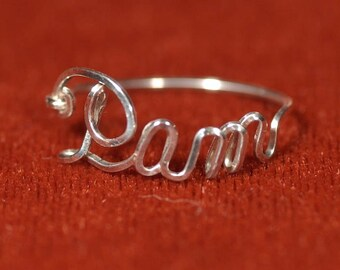 Name Ring in Sterling Silver
