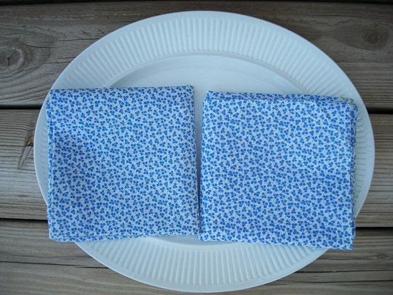 Blue and White feedsacks