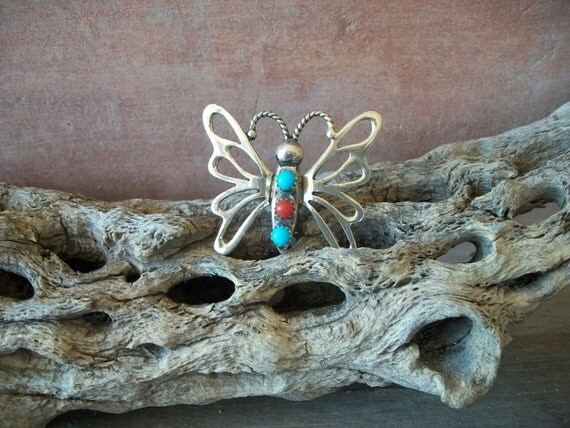 Vintage Native American Butterfly Pin