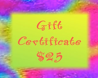 Gift Certificate - 25 Dollars - Dichroic Fused Glass - Hayden Brook Studios