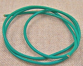 "Cord - 25""  - Verdigris Green Leather - 2mm"