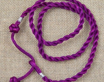 Twisted Necklace Satin Cord - Bright Hot Plum Purple - 16 to 18 Inch Adjustable Length