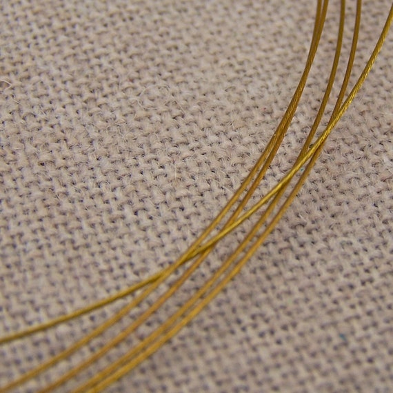 """Gold Colored Stainless Steel Choker Cord - 1mm - 18"""""""