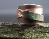 Adjustable Rust and Copper ring