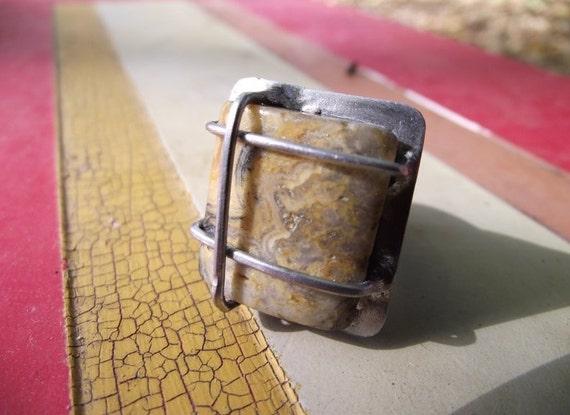 Caged Jasper ring