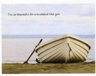 Husband Father's Day Card - From Wife - Inspirational - Boat - Sailing -