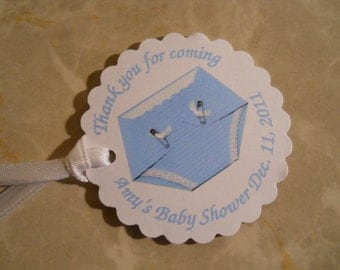 Diaper Baby Shower Favor Tags