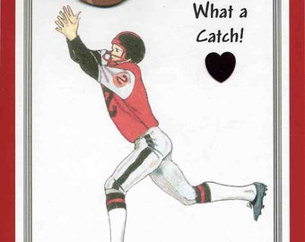 Football Valentine Card for Husband or Wife