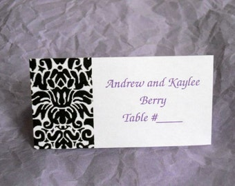 Damask Wedding Seating Cards Place Cards