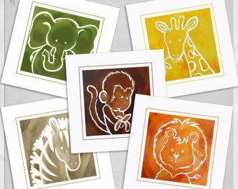 Popular items for jungle zoo animals on Etsy