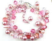 Pink Pearl and Shell Wonderland Bracelet