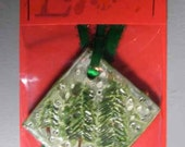 Encaustic Beeswax Christmas Tree Ornament Evergreen